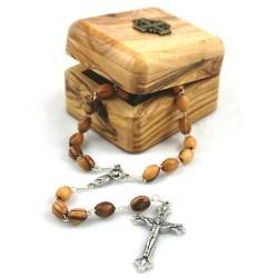 Olivewood Rosary & Box