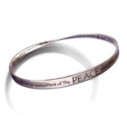 St. Francis Prayer Mobius Bracelet (silver)