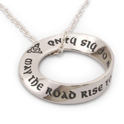Irish Blessing Mobius Necklace (silver)