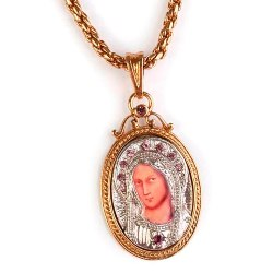 Virgin Mary Icon Necklace