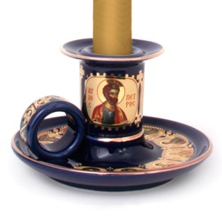 Orthodox Beeswax Candles & Candle Holders
