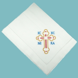 Basket Cover with Cross (embroidered)