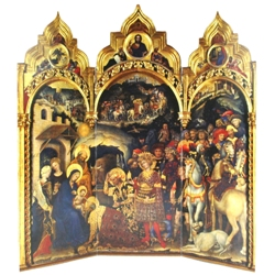 Adoration of the Magi Tri-fold (12 cards in gold bag)