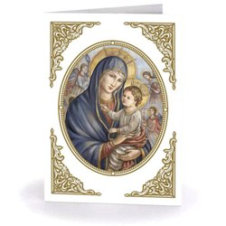 Madonna & Child in Oval Frame (box of 18)