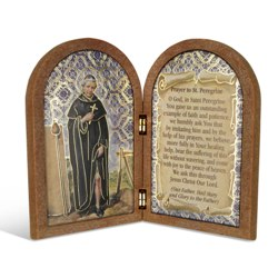 St. Peregrine (wood diptych)