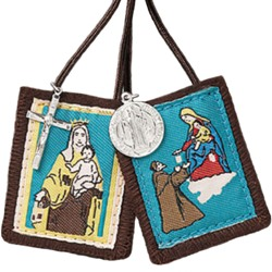 Our Lady of Mt. Carmel Scapular & Medals