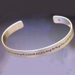 Serenity Prayer Cuff (silver)