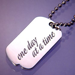 One Day Dog Tag (silver)
