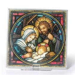 Holy Family Glass Suncatcher